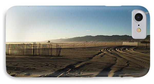 Mark In The Sand - Santa Monica Beach Phone Case by Oscar Karlsson
