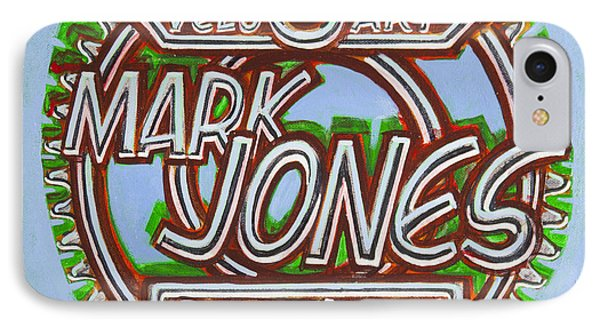 IPhone Case featuring the painting Mark Jones Velo Art Painting Blue by Mark Howard Jones
