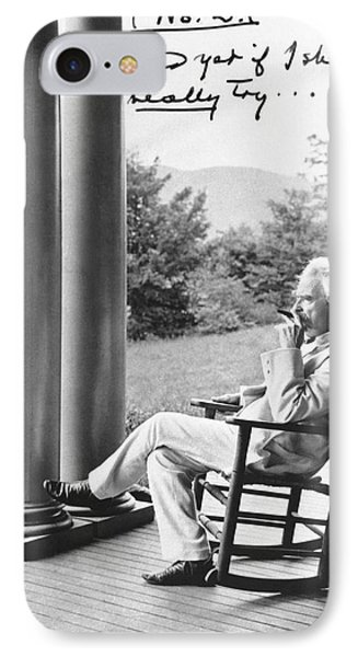 Mark Twain On A Porch IPhone Case