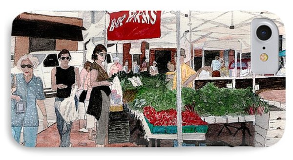 IPhone Case featuring the painting Market Day by June Holwell