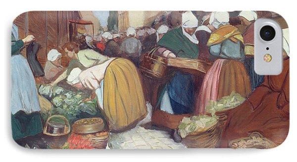 Market In Brest Phone Case by Fernand Piet
