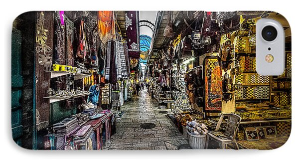 Market In The Old City Of Jerusalem IPhone Case by David Morefield