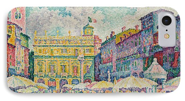 Market Of Verona IPhone Case by Paul Signac