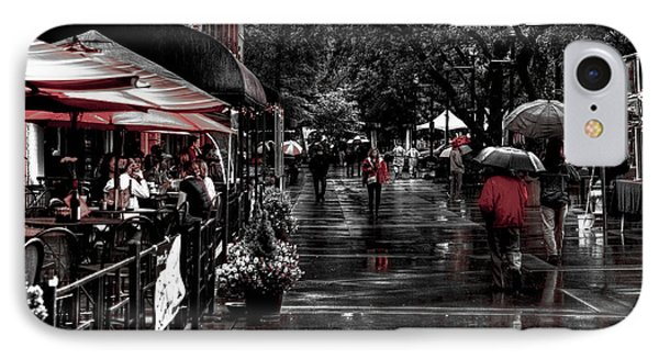 Market Square Shoppers - Knoxville Tennessee Phone Case by David Patterson