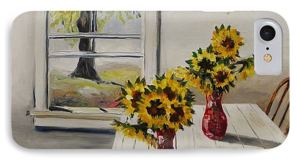 Market Sunflowers IPhone Case by John Williams