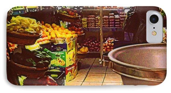 Market With Bronze Scale IPhone Case by Miriam Danar