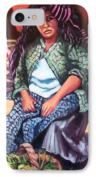 Market Woman From Patzcuaro IPhone Case