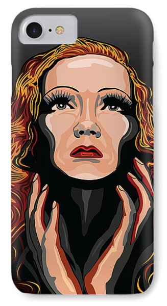 Marlene Dietrich Hollywood The Golden Age Phone Case by Larry Butterworth