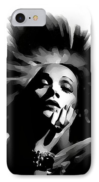 IPhone Case featuring the painting Marlene Dietrich by Maciek Froncisz