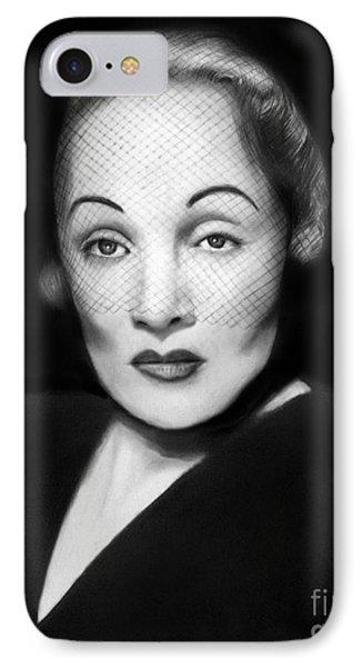 Marlene Dietrich Phone Case by Peter Piatt