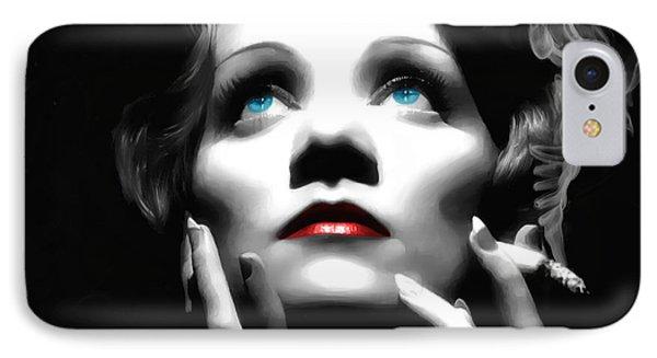 Marlene Dietrich Portrait IPhone Case
