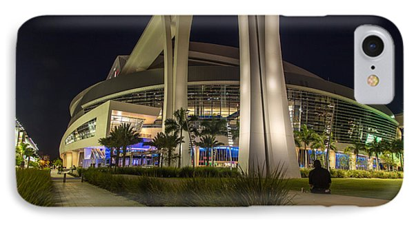 Marlins Park Stadium Miami 3 Phone Case by Rene Triay Photography