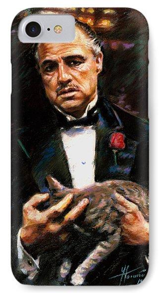Marlon Brando The Godfather IPhone Case by Viola El