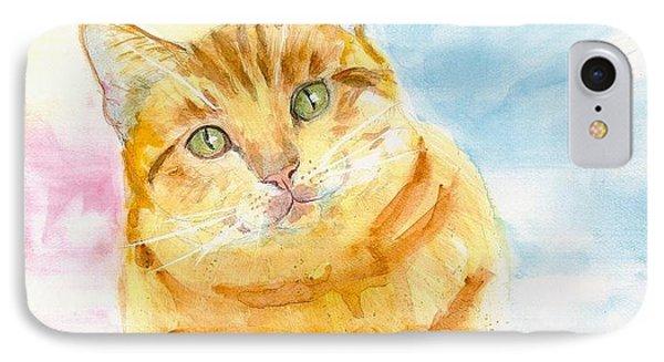 Marmalade Cat IPhone Case by Eva Marie Tanner-Klaas