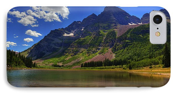 IPhone Case featuring the photograph Maroon Bells by Alan Vance Ley