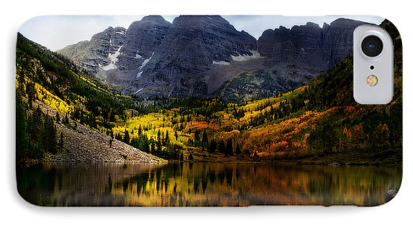 IPhone Case featuring the photograph Maroon Bells - An American Icon by Ellen Heaverlo