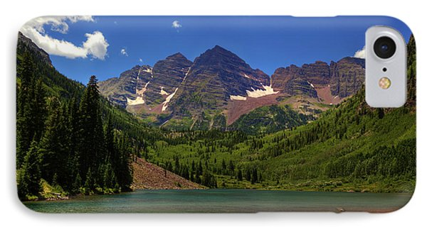 IPhone Case featuring the photograph Maroon Bells From Maroon Lake by Alan Vance Ley
