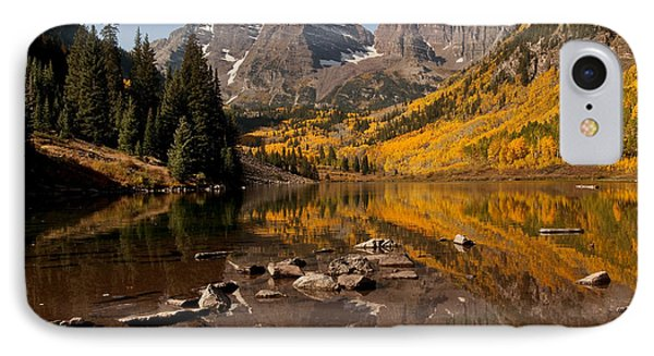 Maroon Bells Reflection IPhone Case by Lee Kirchhevel