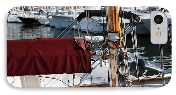 Maroon Sail  Phone Case by John Rizzuto