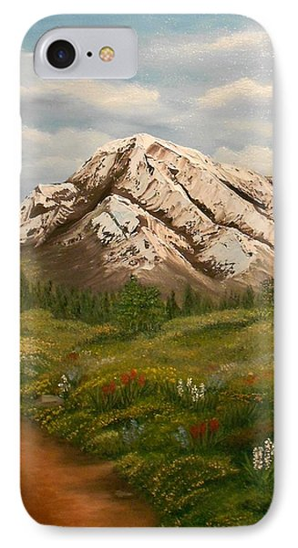Maroon Trail Splendor IPhone Case by Sheri Keith