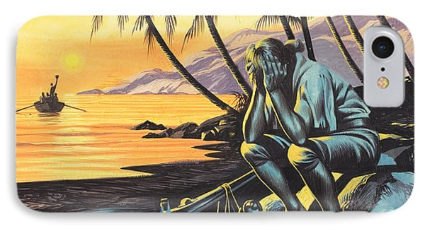Marooned Man IPhone Case by Ron Embleton