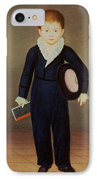 Marques De Penafiel, Son Of The Duke Of Osuna Oil On Canvas IPhone Case by Antonio Carnicero
