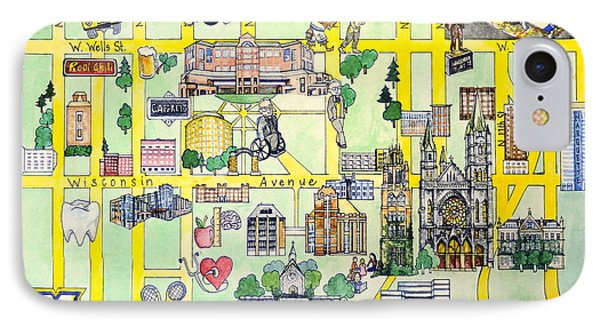 Marquette iPhone 7 Case - Marquette Map by Marquette Map