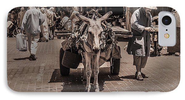 Marrakech Sounk Donkey Cart IPhone Case