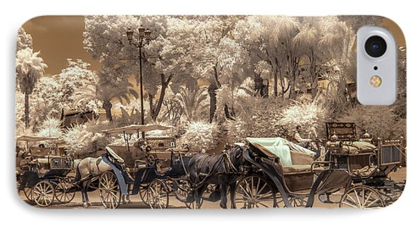 Marrakech Street Life - Horses IPhone Case