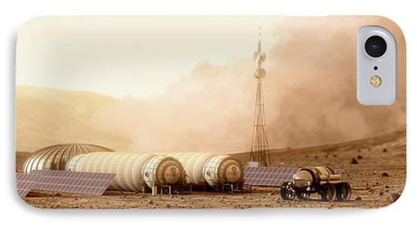 Mars Dust Storm Phone Case by Bryan Versteeg