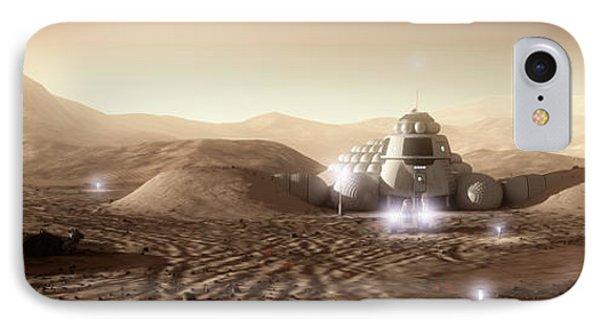 Mars Habitat - Valley End Phone Case by Bryan Versteeg