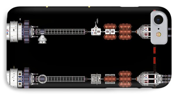 IPhone Case featuring the digital art Mars Spaceship Hermes1 by David Robinson