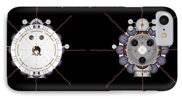 Mars Spaceship Hermes1 Front And Rear IPhone Case by David Robinson