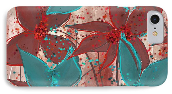 Marsala And Turquoise  IPhone Case