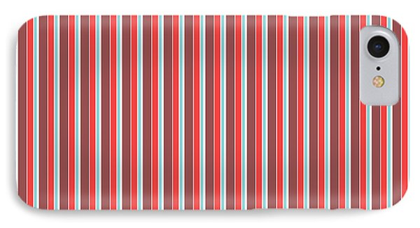 Marsala Stripe 2 IPhone Case by Linda Woods