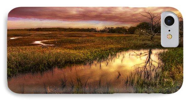 Marsh At Dawn Phone Case by Debra and Dave Vanderlaan