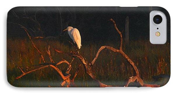 IPhone Case featuring the digital art Marsh Bird Sunrise by Deborah Smith
