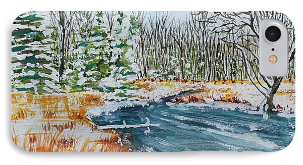 IPhone Case featuring the painting Marsh Edge by Jack G  Brauer