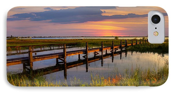 Marsh Harbor IPhone Case by Debra and Dave Vanderlaan
