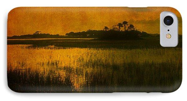 Marsh Island Sunset Phone Case by Susanne Van Hulst