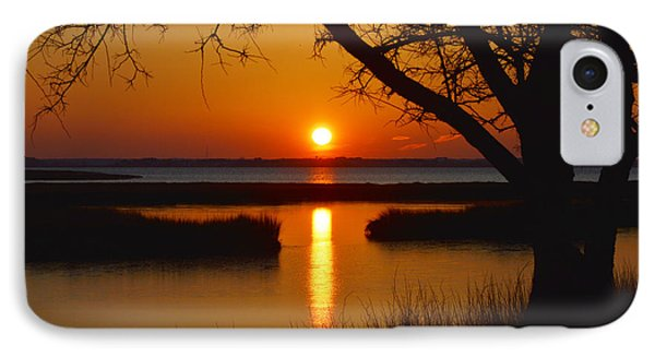 IPhone Case featuring the photograph Ocean City Sunset At Old Landing Road by Bill Swartwout