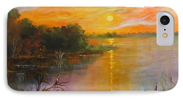 IPhone Case featuring the painting Marsh Sunset by Barbara Haviland