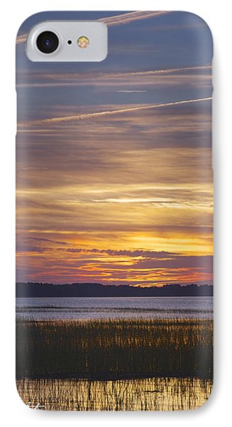 Marsh Sunset Phone Case by Phill Doherty
