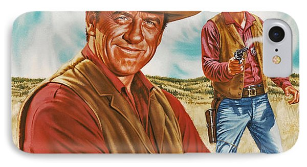 Marshall Mat Dillon Phone Case by Dick Bobnick