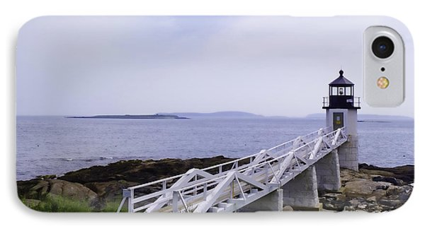 Marshall Point Light 1 Stylized IPhone Case by Patrick Fennell
