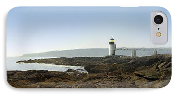 Marshall Point Lighthouse - Panoramic IPhone Case by Mike McGlothlen
