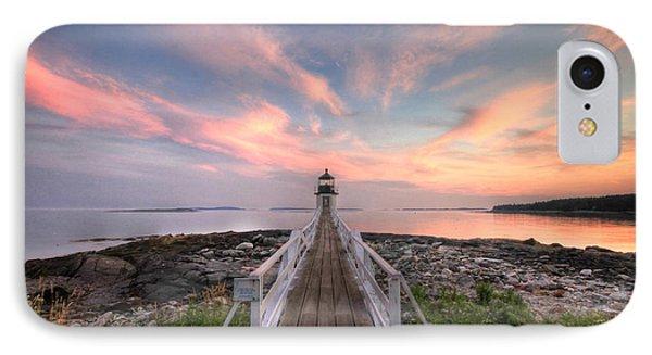 Marshall Point Sunset Phone Case by Lori Deiter