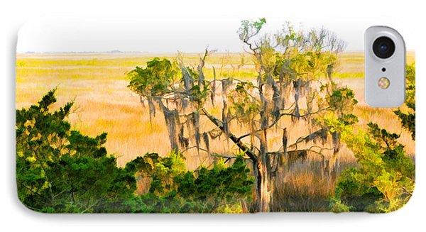 Marsh Cedar Tree And Moss IPhone Case