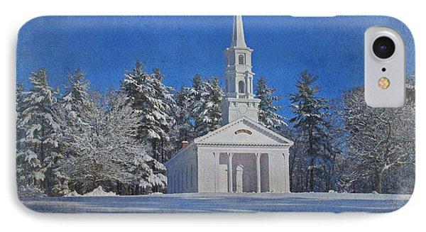 Martha Mary Chapel In Winter Phone Case by Jayne Carney