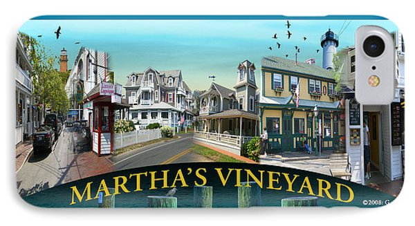 Martha's Vineyard Collage Phone Case by Gerry Robins